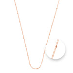Ball Rose Gold Plated Necklet 45cm