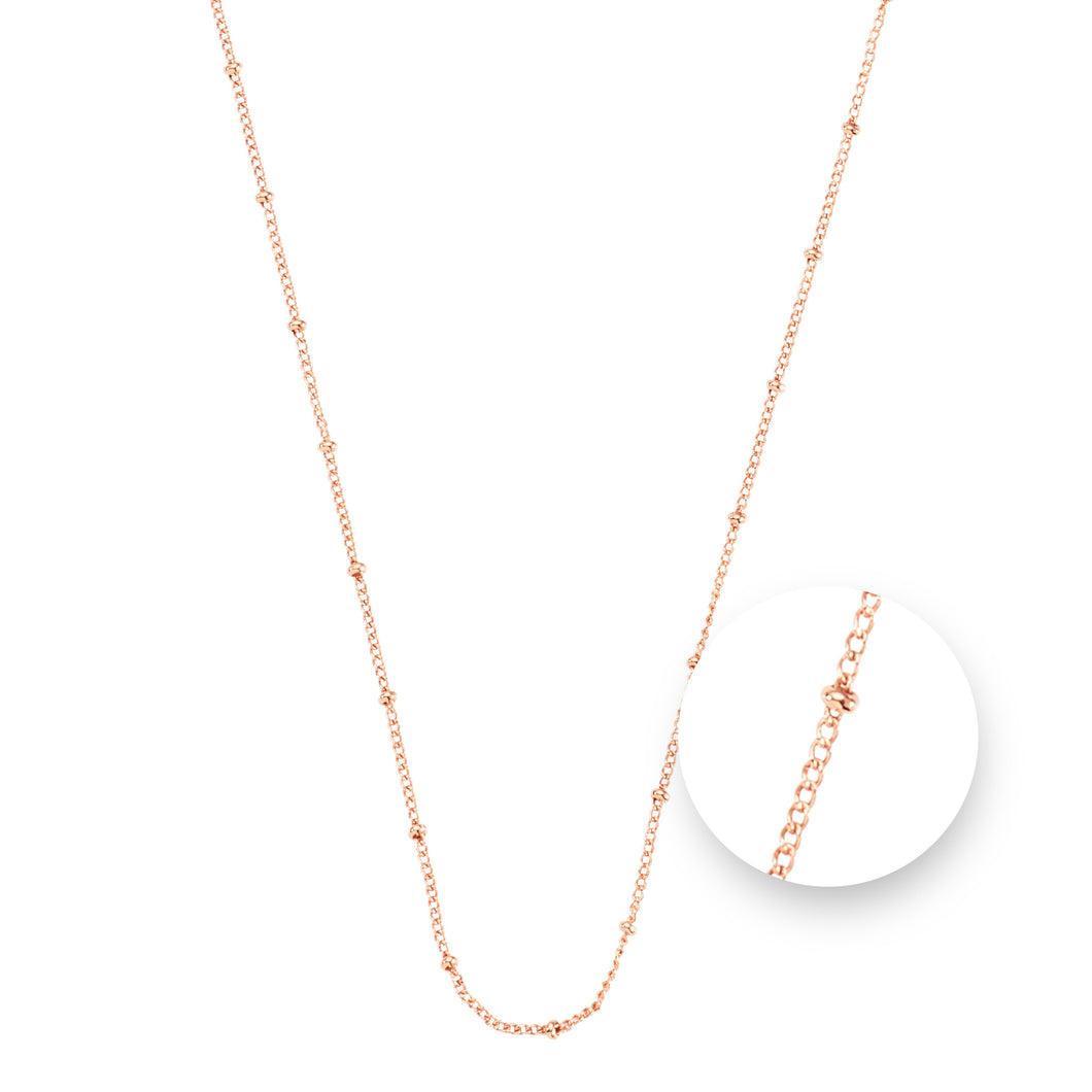 Ball Rose Gold Plated Necklet 60cm