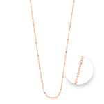 Ball Rose Gold Plated Necklet 75cm