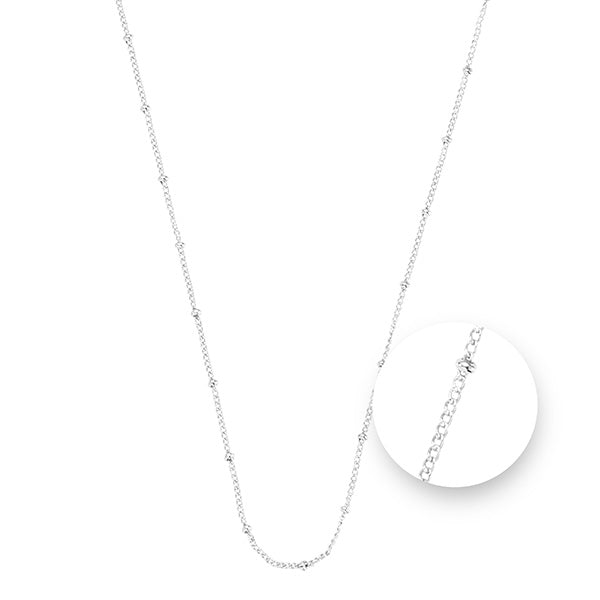 Ball Silver Plated Necklet 45cm