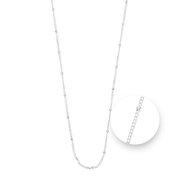 Ball Silver Plated Necklet 75cm