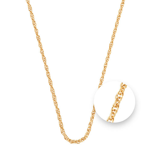 Nikki Lissoni Twisted Gold Plated Necklet 45cm