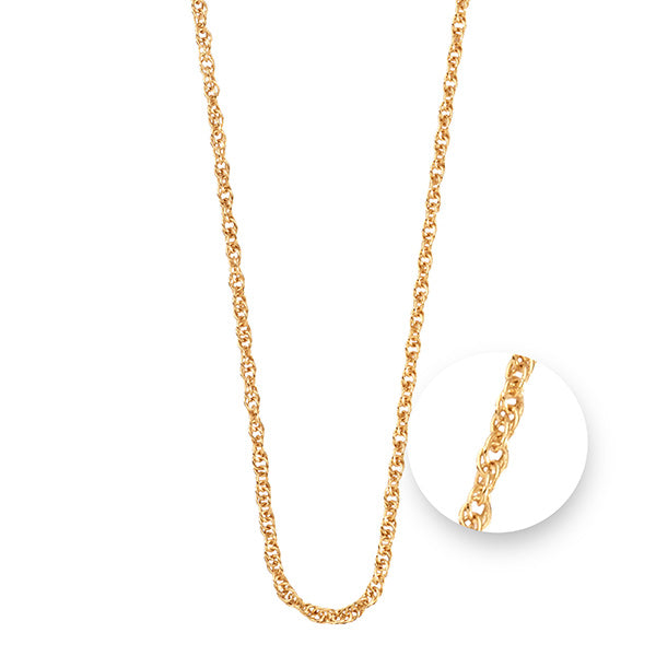 Nikki Lissoni Twisted Gold Plated Necklet 75cm