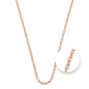 Nikki Lissoni Twisted Rose Gold Plated Necklet 45cm