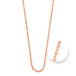 Nikki Lissoni Twisted Rose Gold Plated Necklet 75cm
