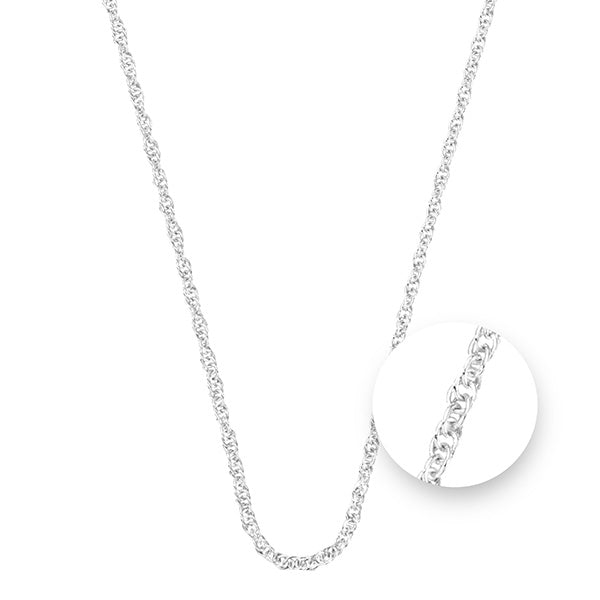 Nikki Lissoni Twisted Silver Plated Necklet 45cm