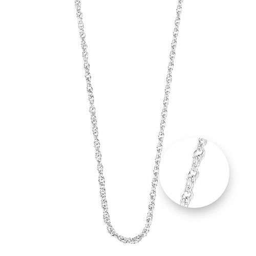 Nikki Lissoni Twisted Silver Plated Necklet 75cm