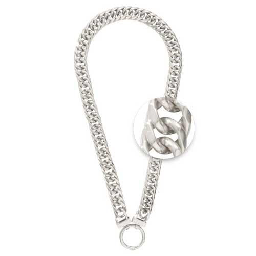 Necklet Double Curb Silver Plate 50cm