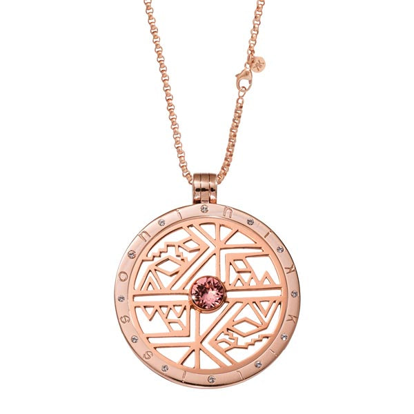 Rose Gold Plated Wild & Free Coin Necklace Set 80cm
