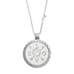 Silver Plated Show Me Love Coin Necklace Set 60cm