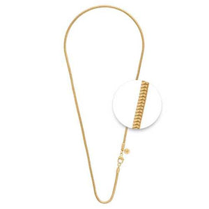 Snake Necklet Gold Plate 2.4mm