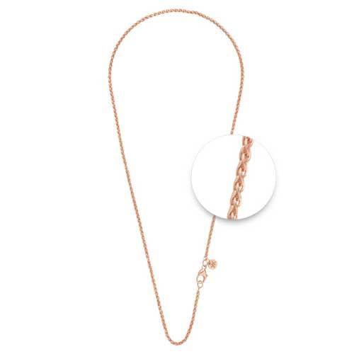 Nikki Lissoni - Wheat Necklet Rose Gold Plate 2mm