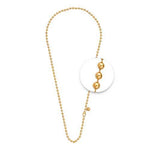 Necklet Gold Plated 3mm x 45cm