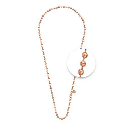 Ball Necklet Rosé Gold Plate 3mm