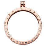 Pendant Square Swarovski Rose Gold Plated