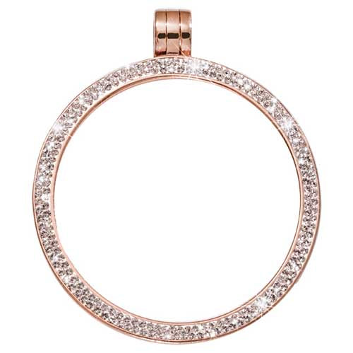 Pendant Swarovski Pave Rose Gold Plated