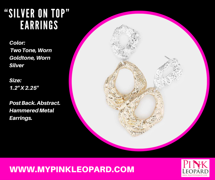"""Silver On Top"" Earrings"