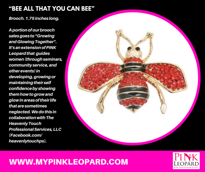 Bee All That You Can Bee Brooch (Red)