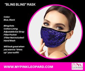 bling bling mask, polka dot mask, filter pocket, holiday mask, holiday 2020, dress up mask