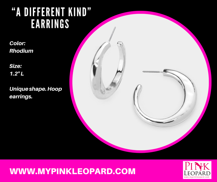 """A Different Kind"" Earrings (Rhodium)"