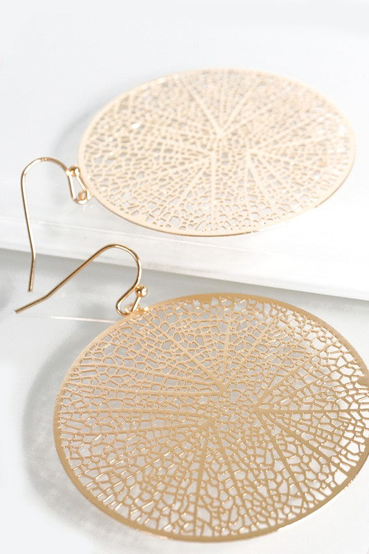 Circle Filigree Earrings- 2 Colors