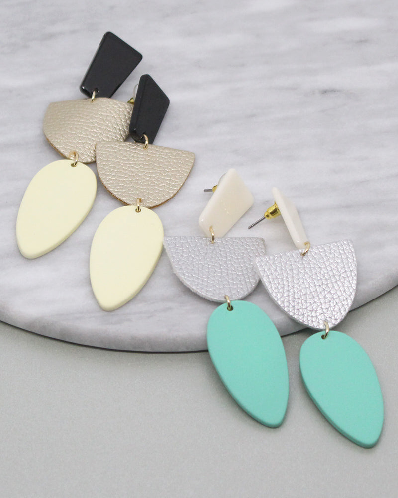 Geo Shape Dangles- 2 Colors