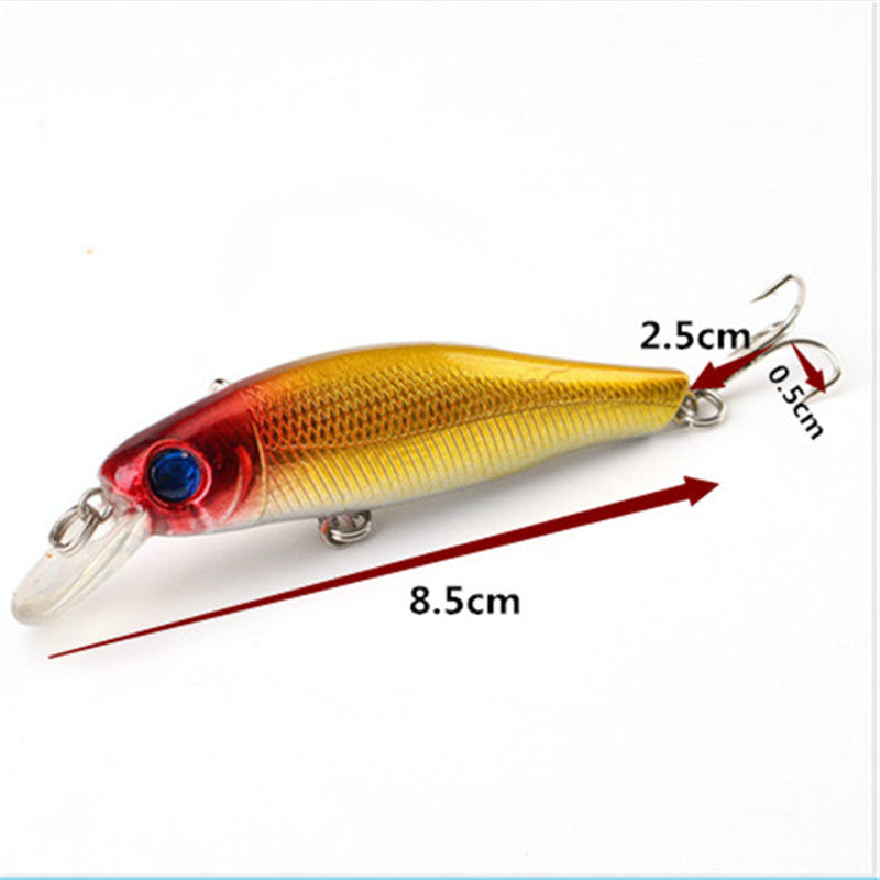 6pcs Colorful 8.5CM/8.5G 3D Fish Eyes Fishing Lure Artificial Minnow Hard Baits