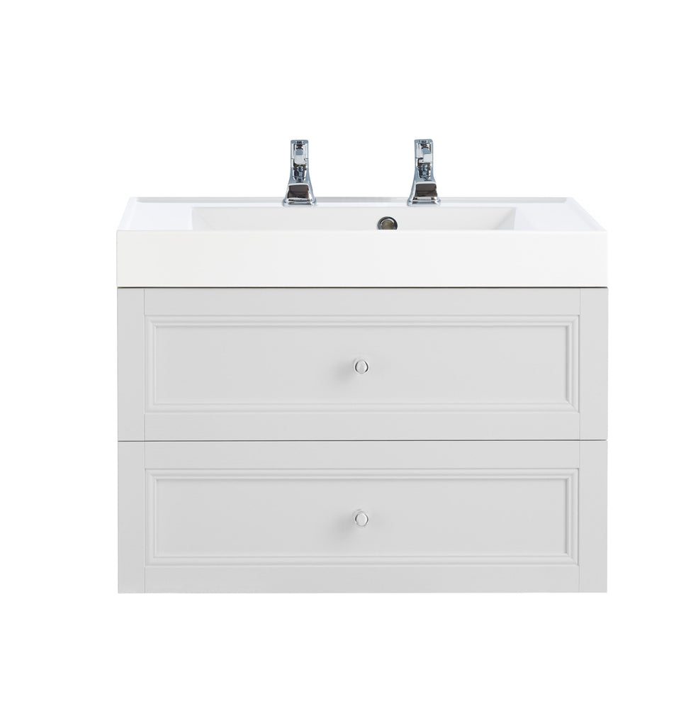 HB - Sink Vanity Double Draw White