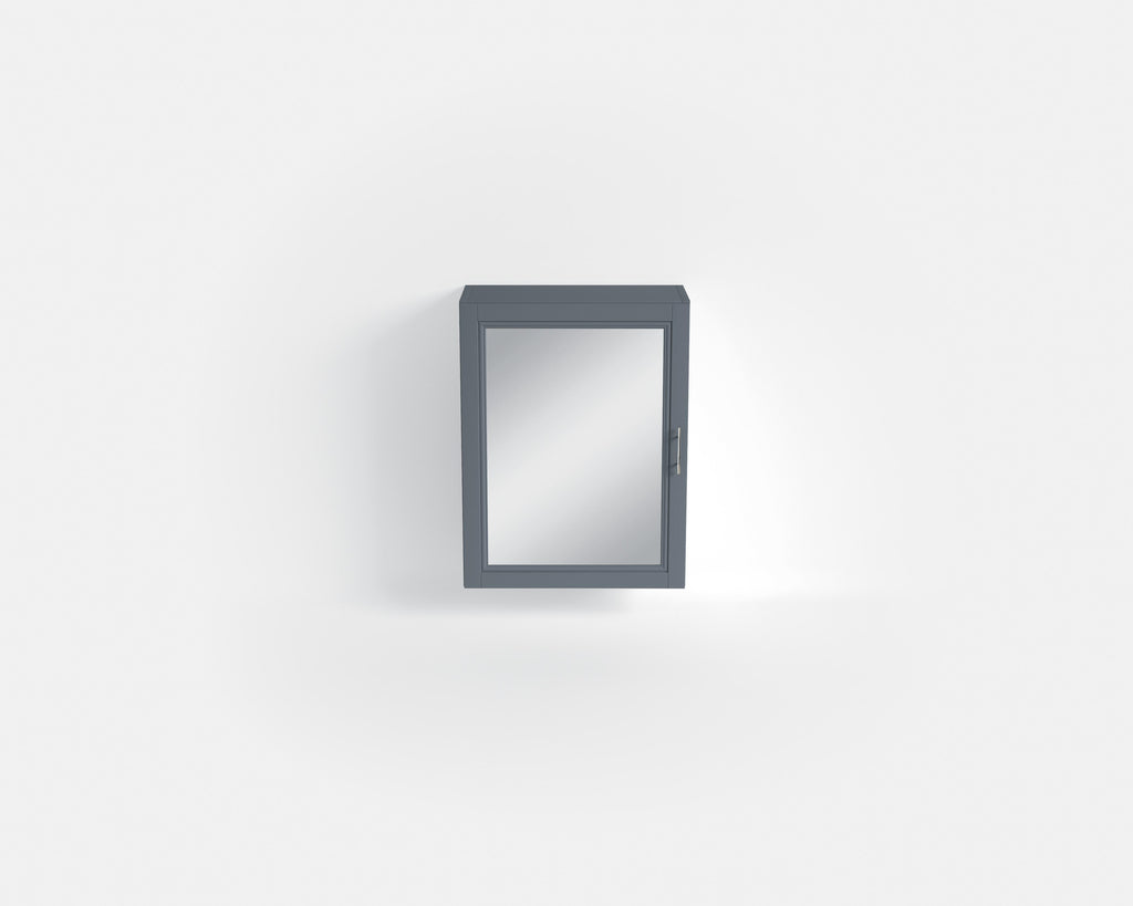 HB - Cupboard Square Mirrored Grey