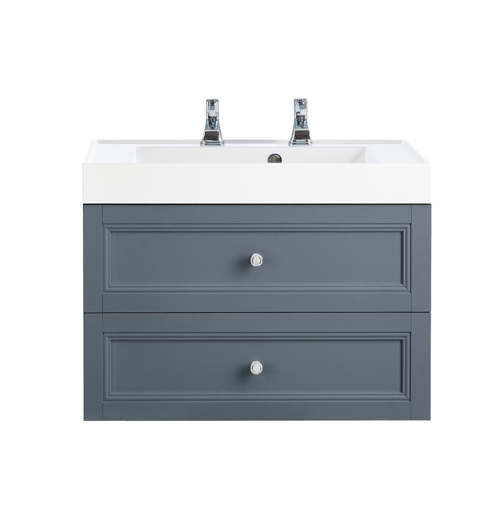 HB - Sink Vanity Draws Double Grey