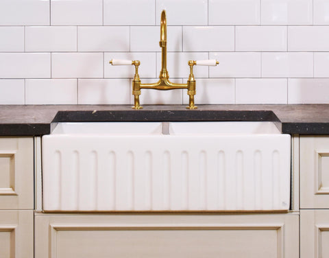 Double Fluted Apron Sink - 833 *500 *250