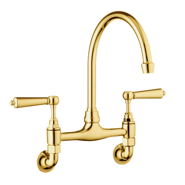 Traditional Kitchen Mixer Tap - Metal Levers