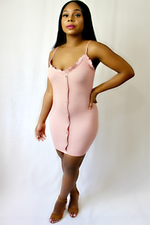 Dusty Rose Pink Dress