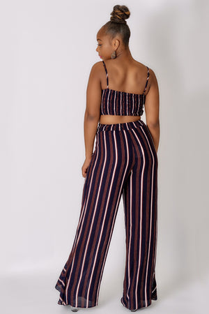 Stripe Pant Set