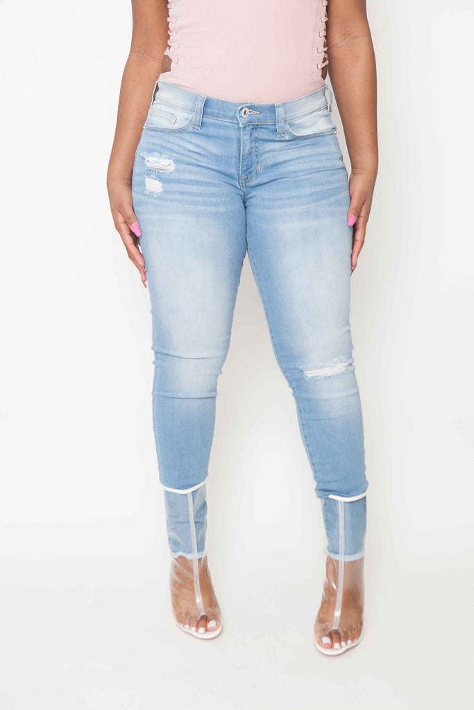 Lt Machine Shredd Ankle Crop Jean