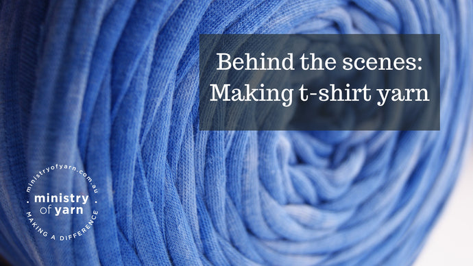 Behind the scenes: Making t-shirt yarn