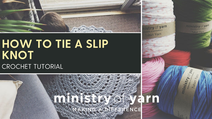 How to tie a slip knot for crochet or knitting