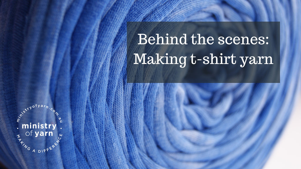 A look into the process of creating t-shirt yarn