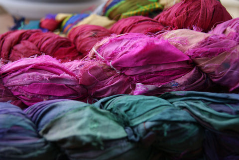 Recycled Silk Sari Ribbon Yarn Australia