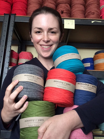So many colours of recycled tshirt yarn to buy in Australia
