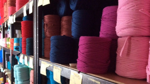 Stock room of t-shirt yarn