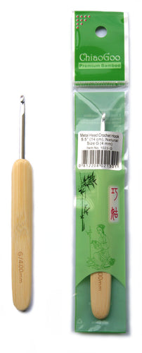 4mm ChiaoGoo metal head bamboo crochet hook