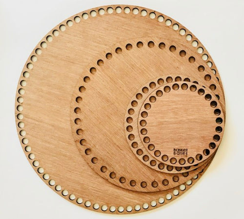 Wooden Crochet Basket Base Australia round circle
