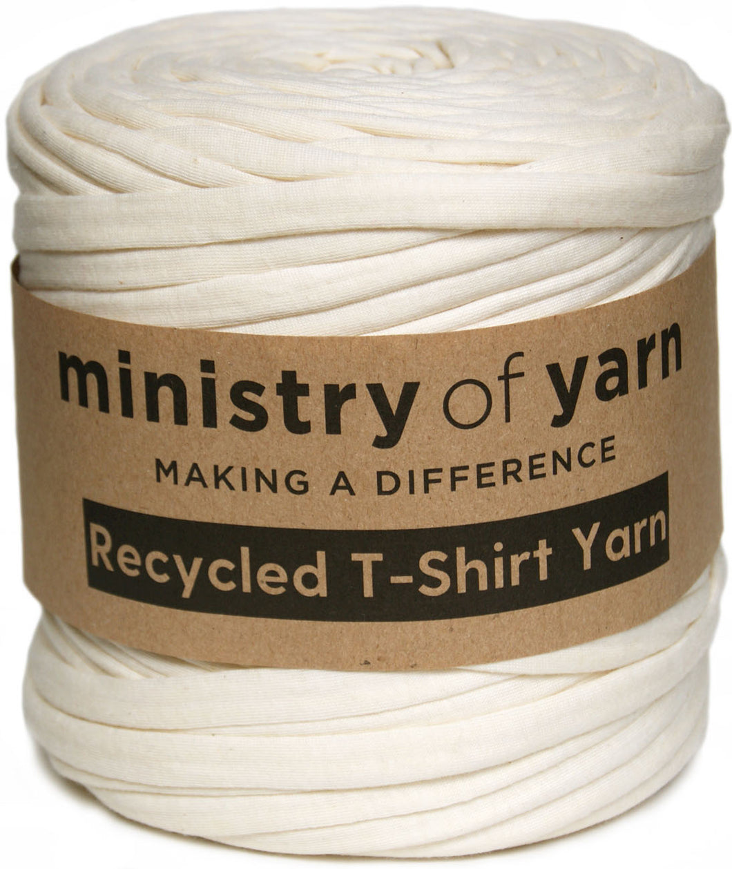 Cream eco friendly recycled t-shirt yarn Australia