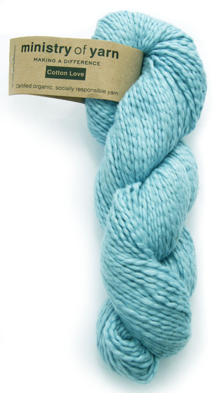 Organic Cotton Fair Trade Peruvian Light Blue Ministry of Yarn