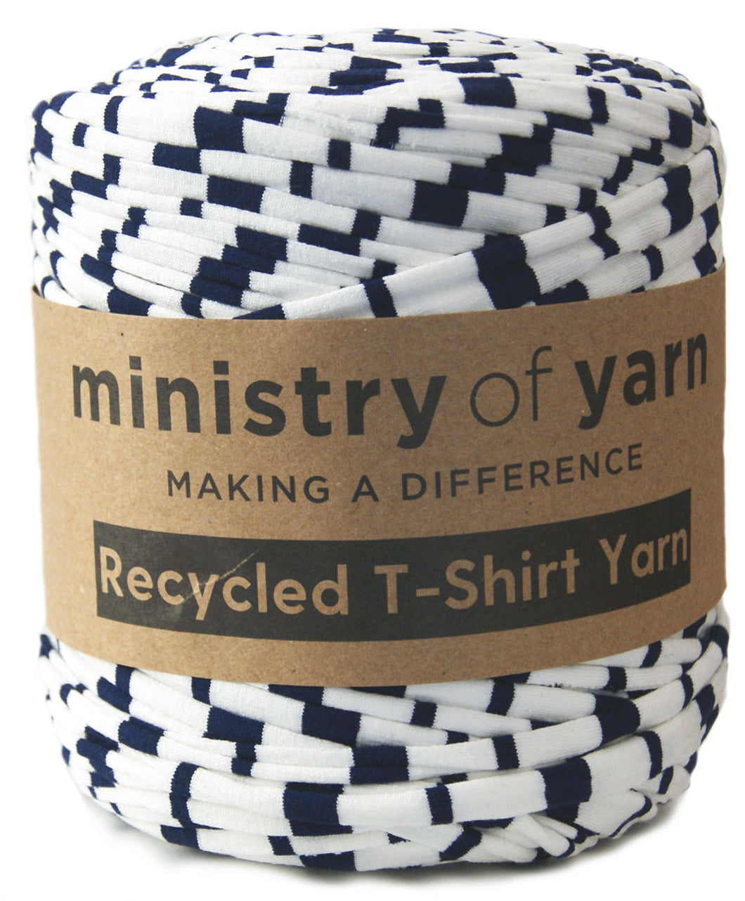 Navy and White Stripes T-shirt Yarn