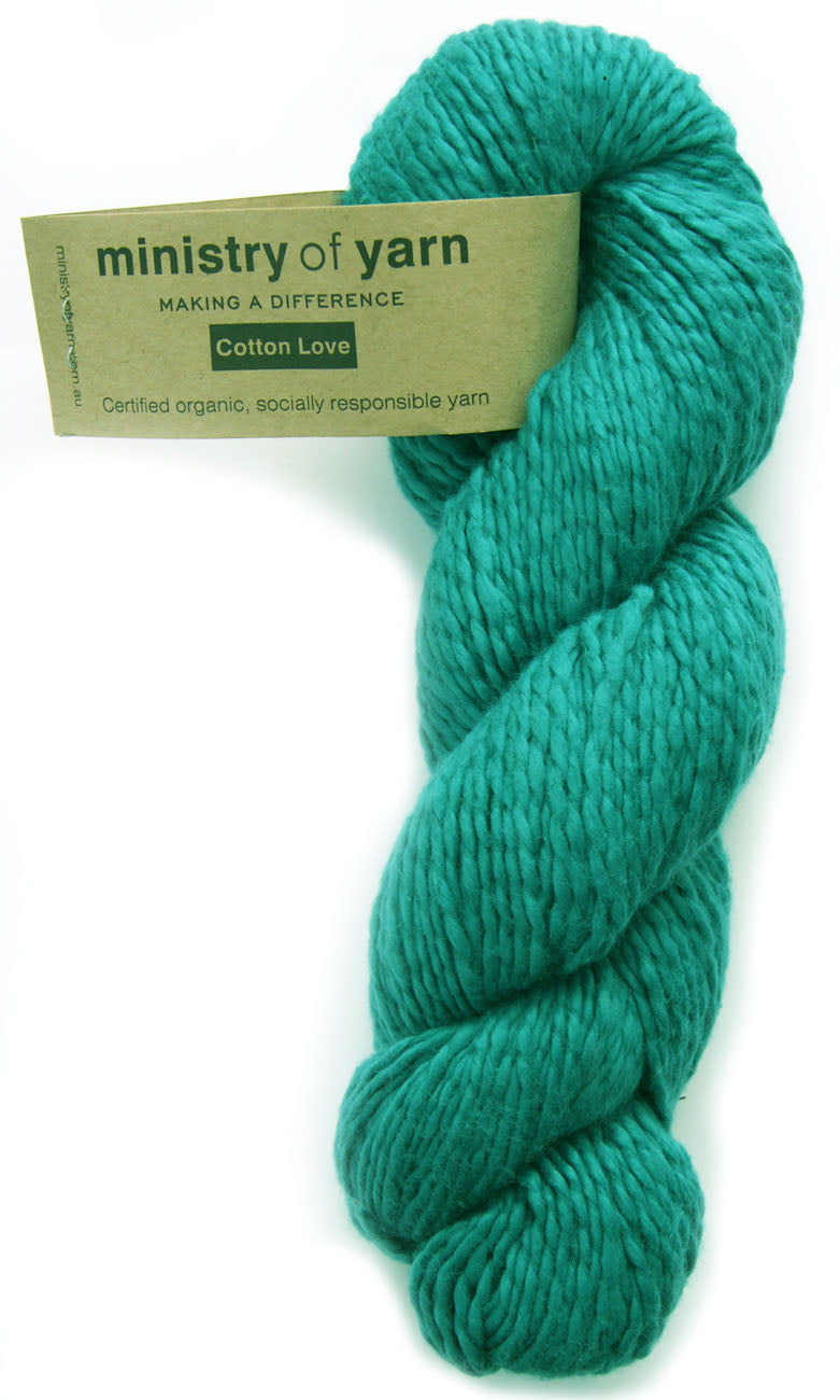 Organic Cotton Fair Trade Peruvian Teal Ministry of Yarn