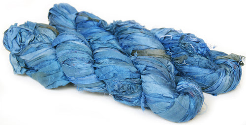 Recycled Light Blue Sari Ribbon Yarn Australia