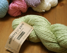 Sage Green DK Cotton Clouds socially responsible Fair Trade Organic cotton yarn