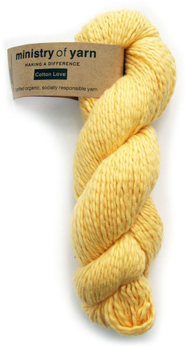 Organic Cotton Fair Trade Peruvian Bright Yellow Ministry of Yarn